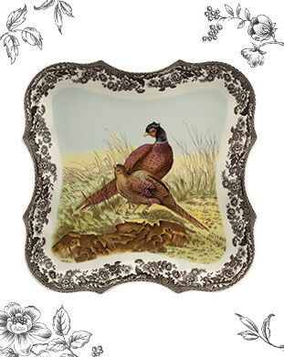 "Spode Woodland Devonia Tray 14"" (Pheasant)"
