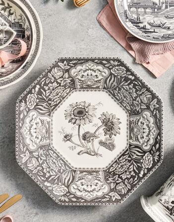 Spode Heritage 14 Inch Octagonal Platter (Floral)