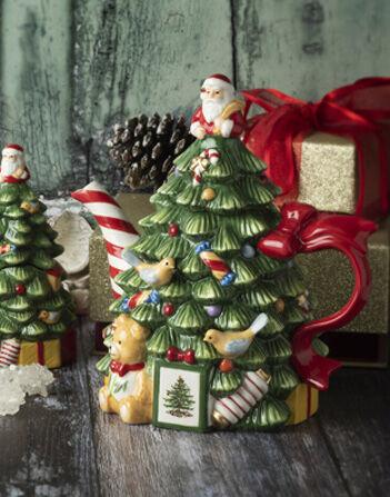 Spode 250th Anniversary Christmas Tree Figural Teapot