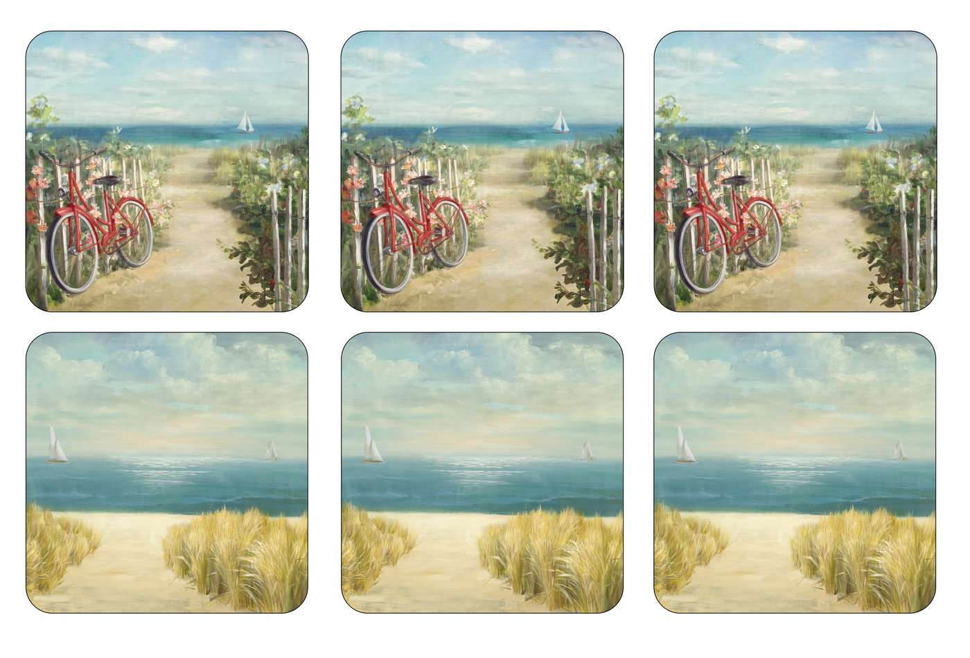 Pimpernel Summer Ride Set of 6 Coasters image number 0