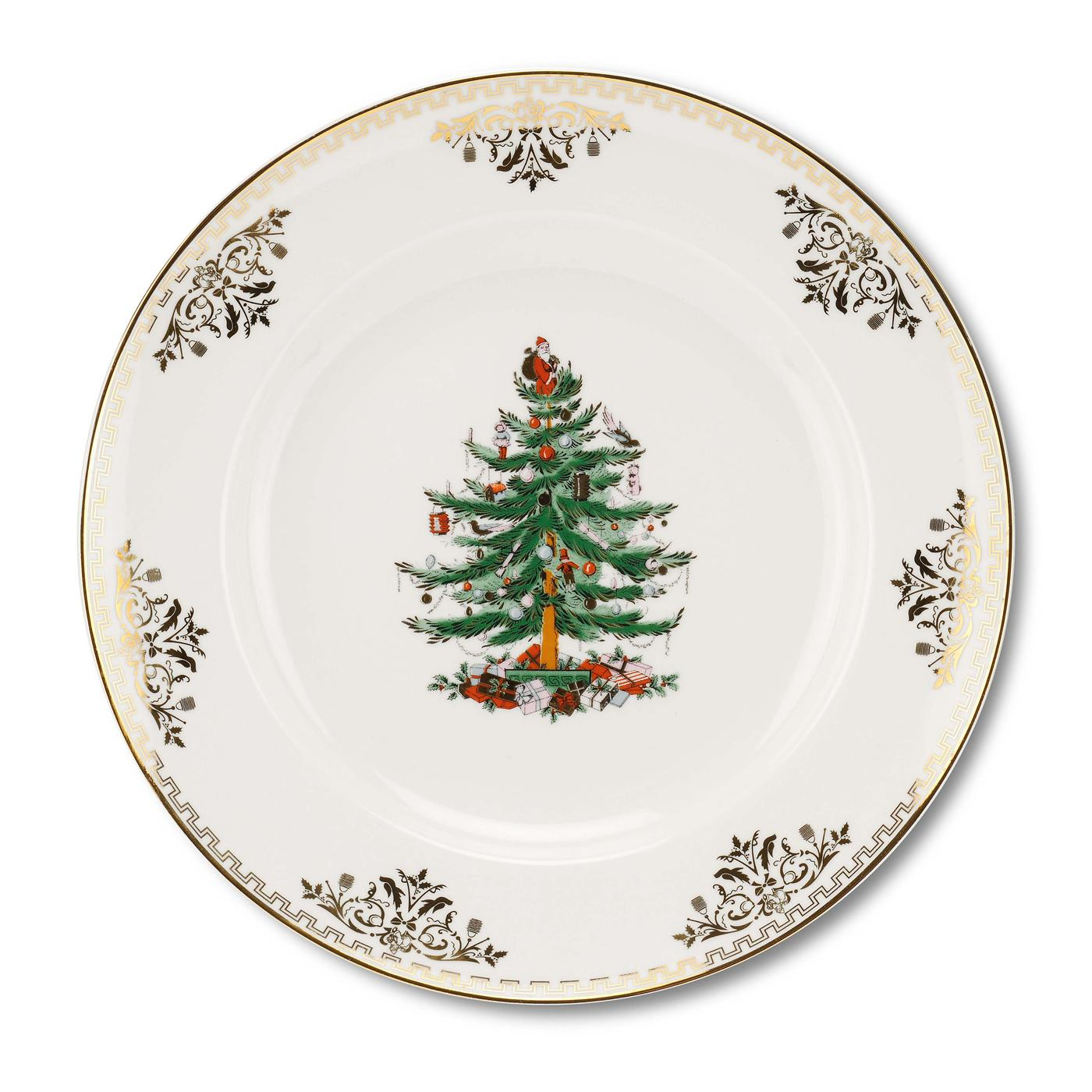 Spode Christmas Tree Gold Collection Set of 4 Dinner Plates image number 0