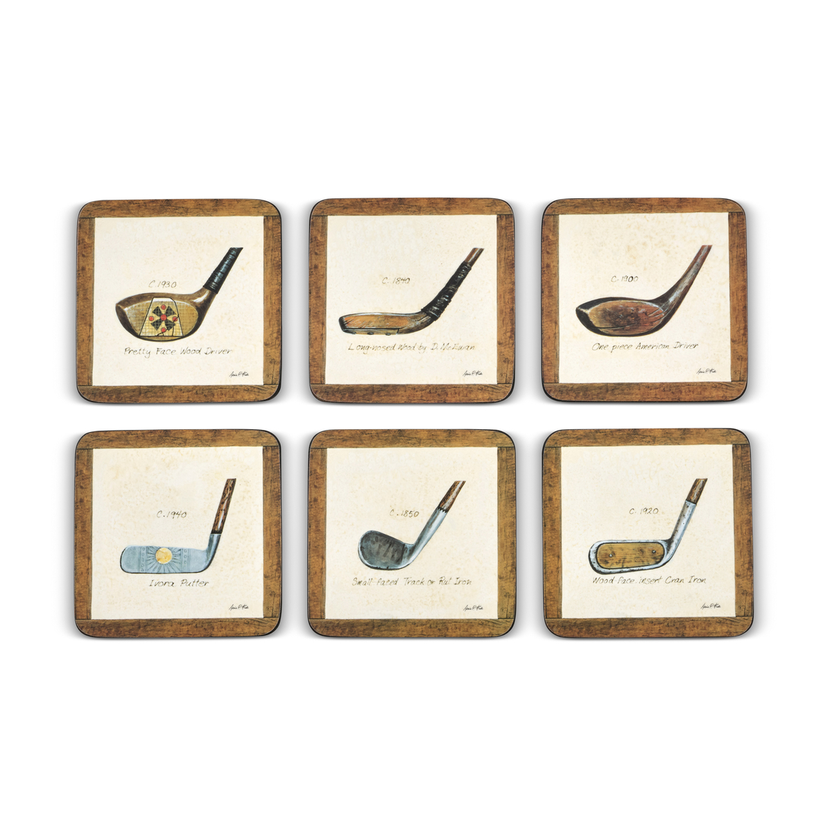 Pimpernel A History of Golf Coasters Set of 6 image number 2