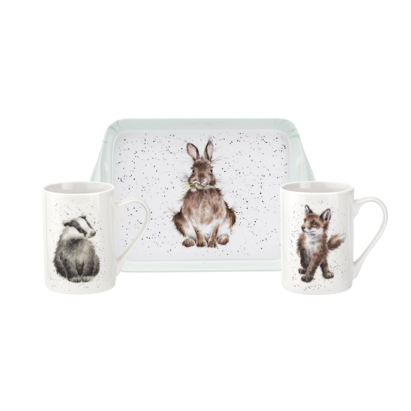 Pimpernel Wrendale Designs 3 Piece Mug & Tray Set (Woodland Friends) image number 0