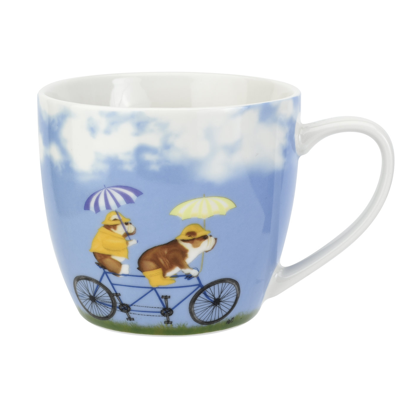 Pimpernel Pedaling Pups English Bulldog 16oz Mug image number 0
