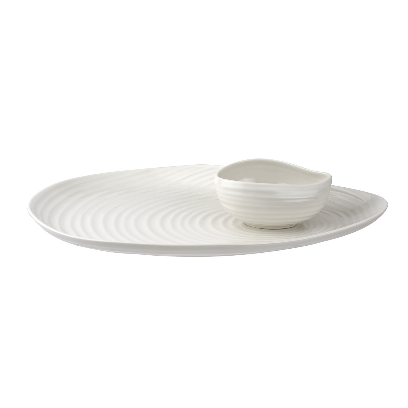 Sophie Conran for Portmeirion Shell Shaped Serving Plate and Bowl Set image number 0