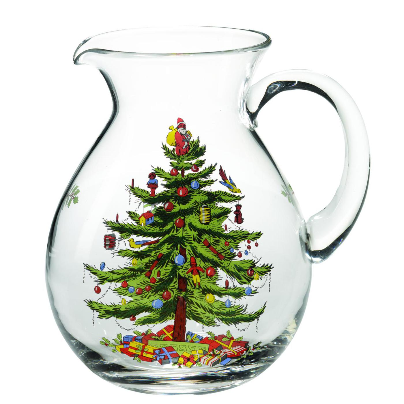 Spode Christmas Tree Glass Pitcher image number 0