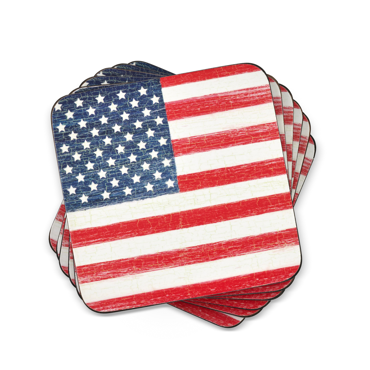 Pimpernel American Flag Coasters Set of 6 image number 0