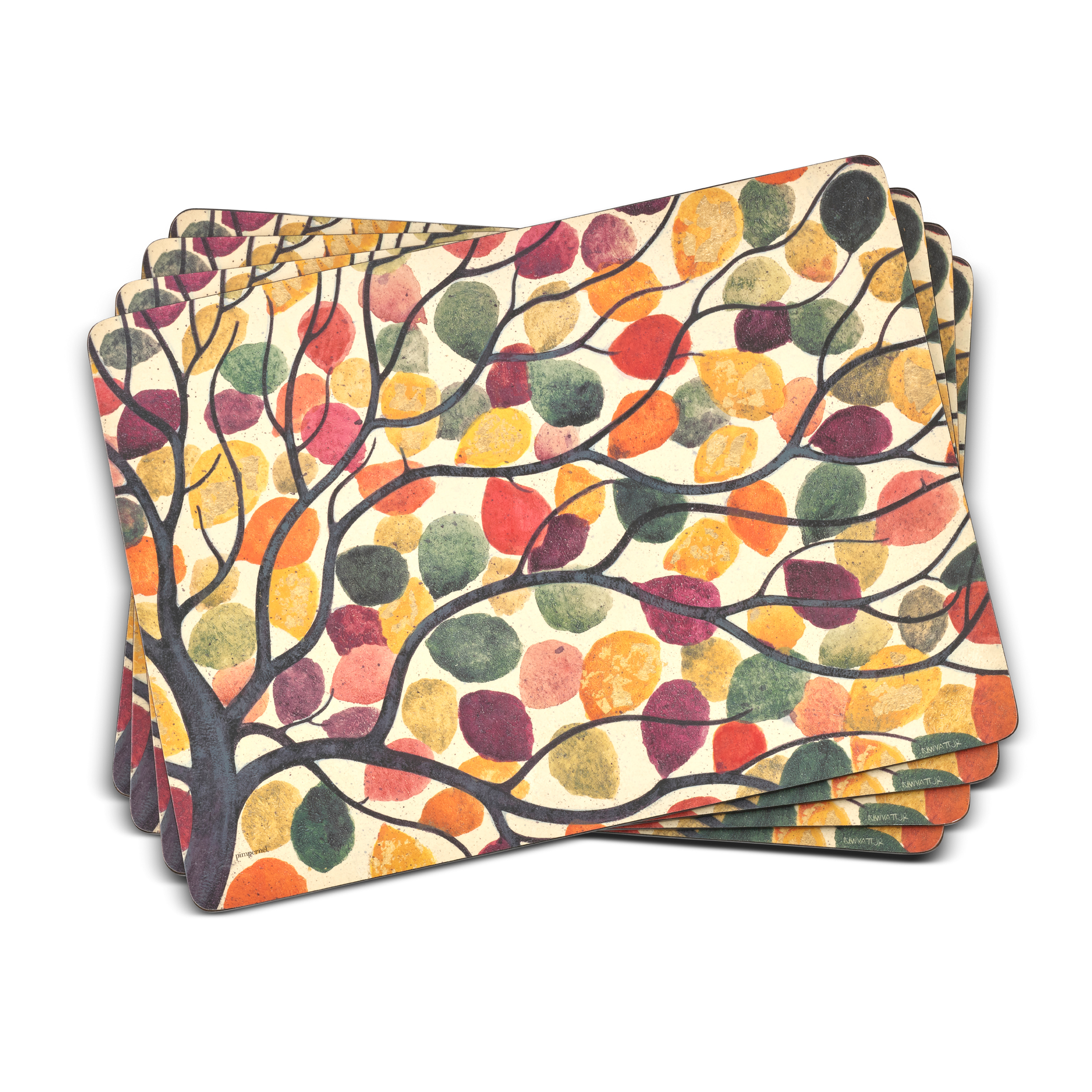 Pimpernel Dancing Branches Set of 4 Placemats image number 0