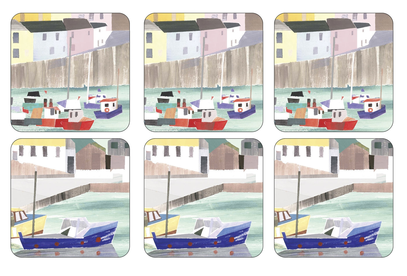 Pimpernel Harbour Coasters Set of 6 image number 0