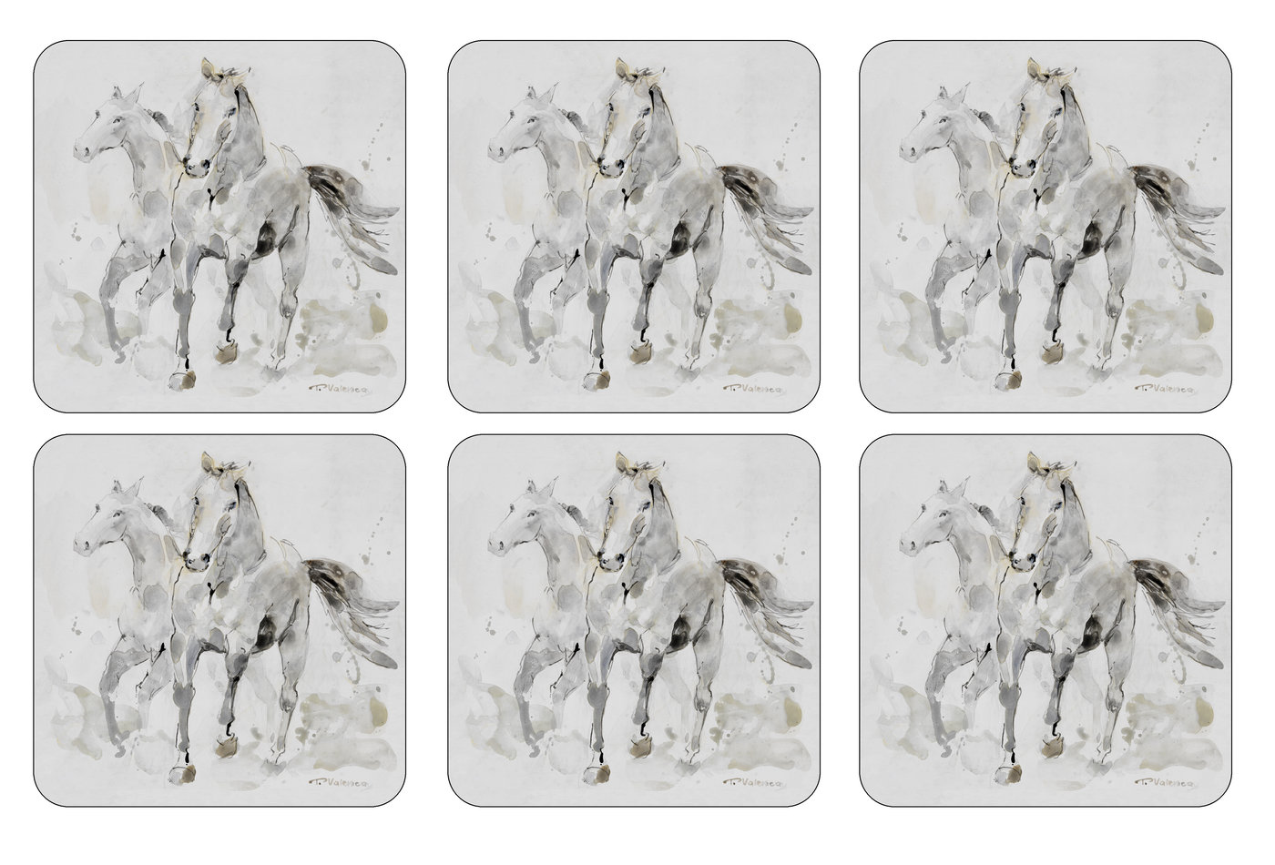 Pimpernel Set of 6 Spirited Horses Coasters image number 0