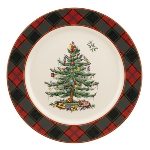 Spode Christmas Tree Tartan 12 Inch Buffet Plate image number 0