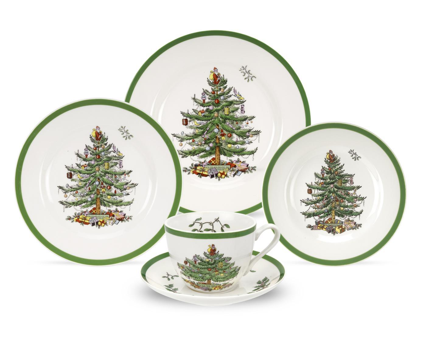 Spode Christmas Tree 5-Piece Placesetting image number 0
