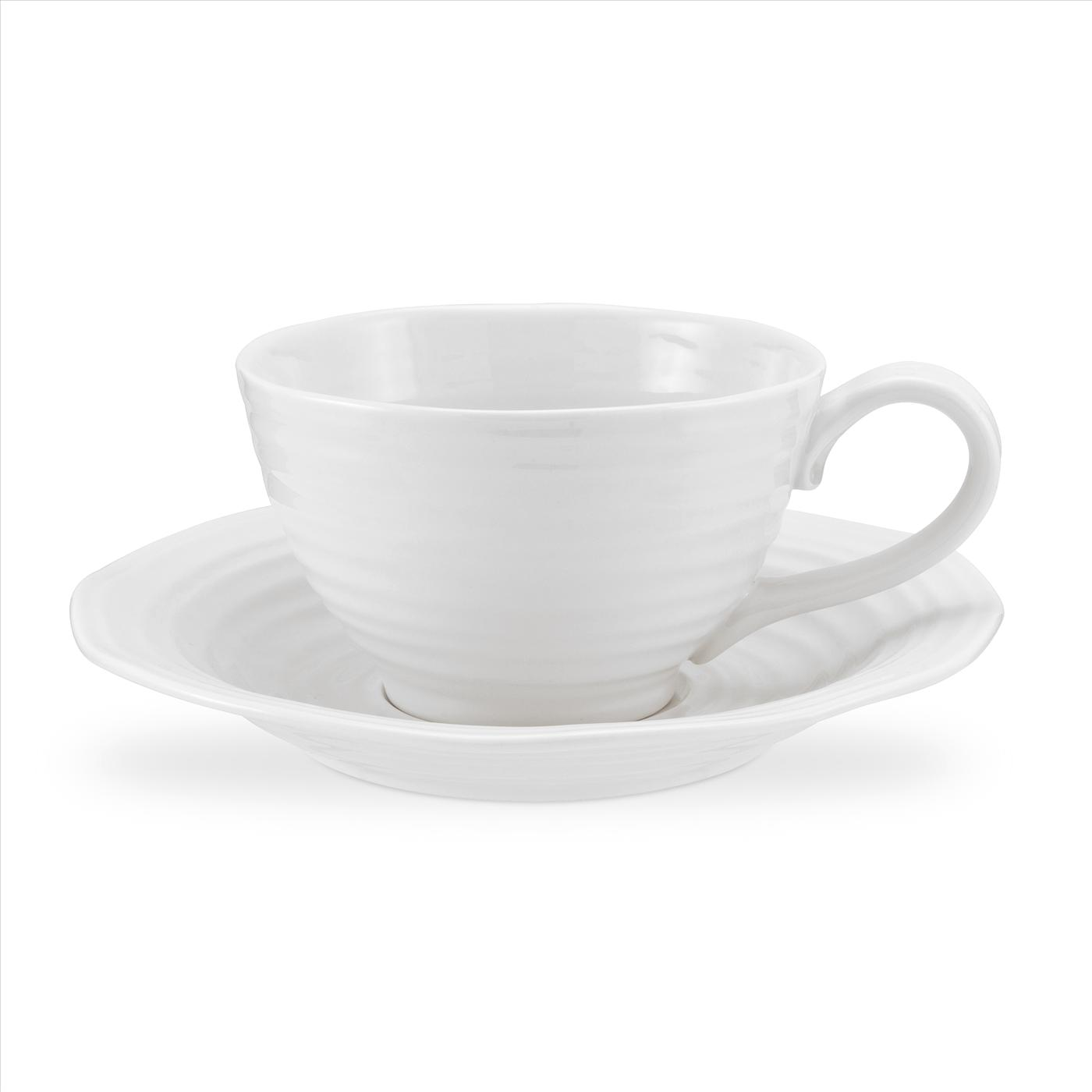 Portmeirion Sophie Conran White Jumbo Cup and Saucer image number 0