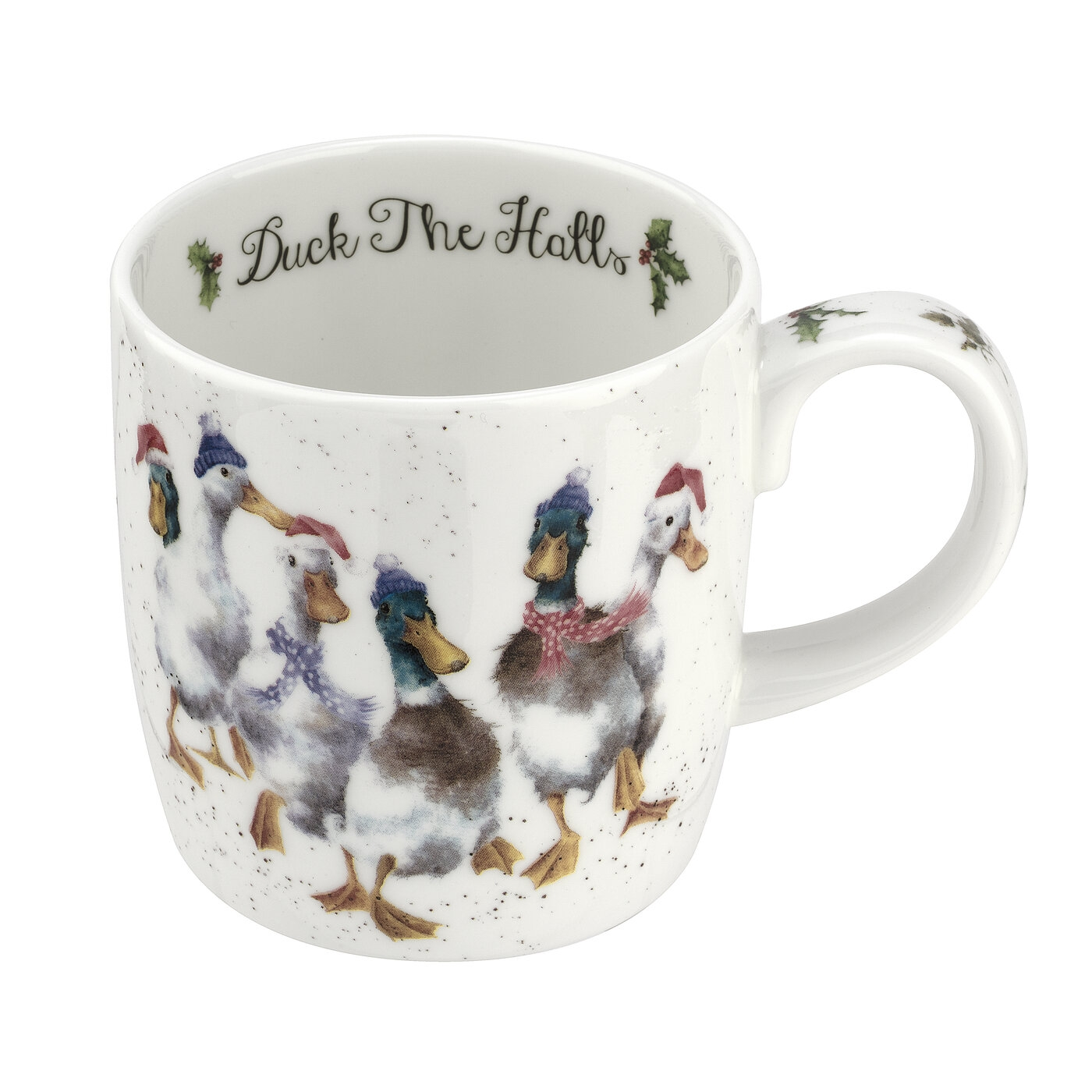 Royal Worcester Wrendale Designs 14oz Mug Duck The Halls (Duck) image number 0