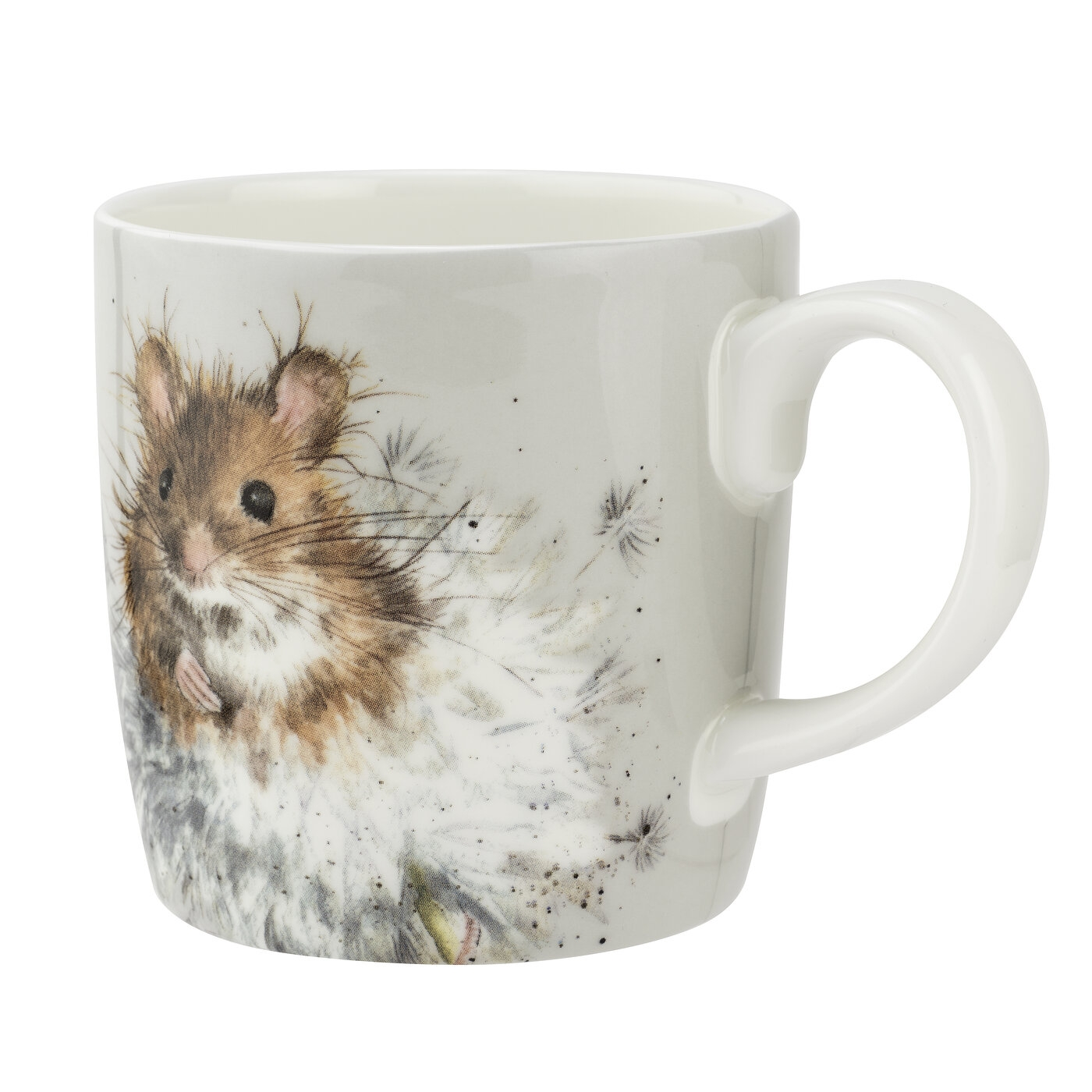 Royal Worcester Wrendale Designs 14oz Dandelion Mug (Mouse) image number 0