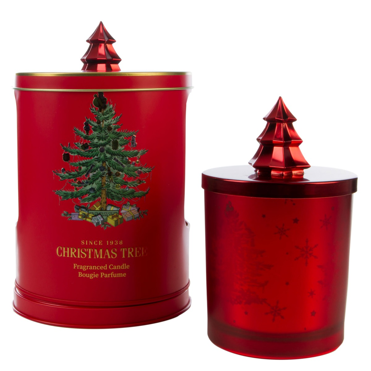 Christmas Tree Candle In Musical Tin image number 0