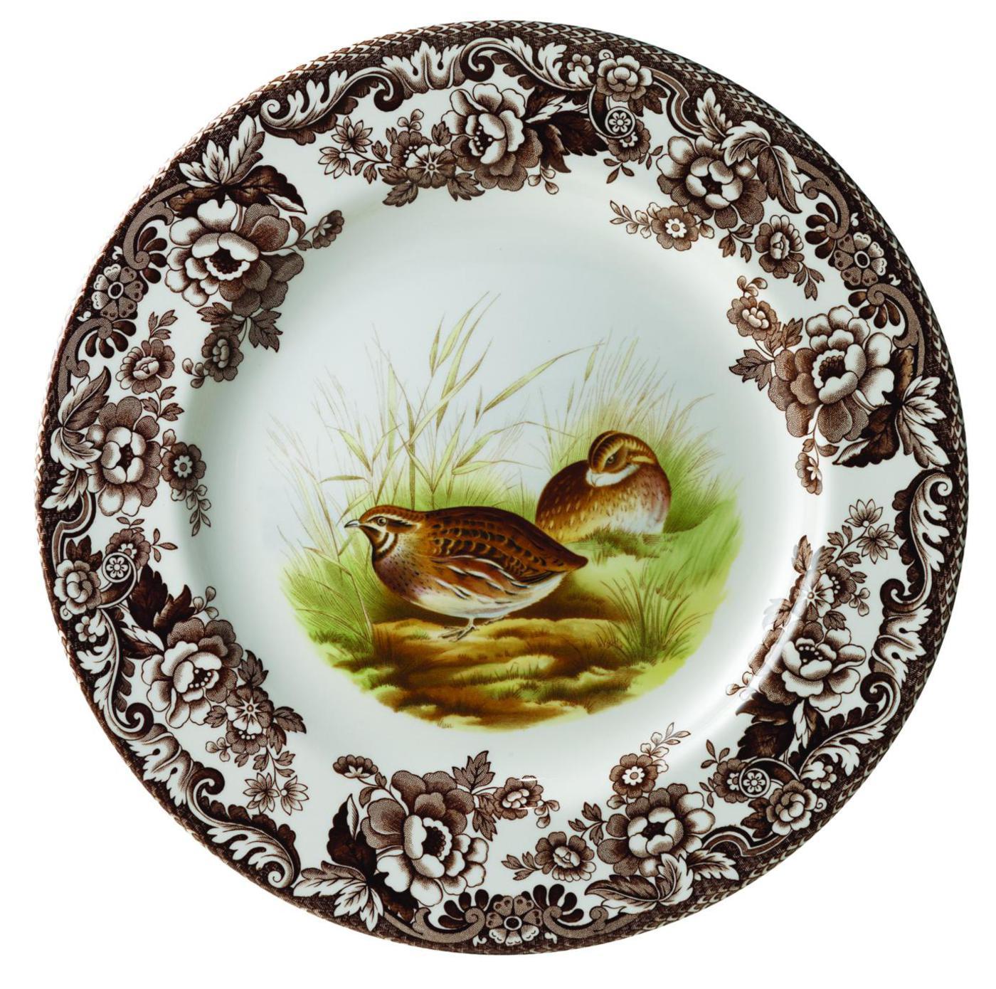 SPODE CHINA WOODLAND Quail Salad Plate 7 34 #S3422