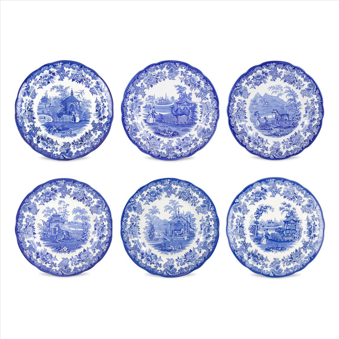 Spode Blue Room Set of 6 Zoological Plates image number 0