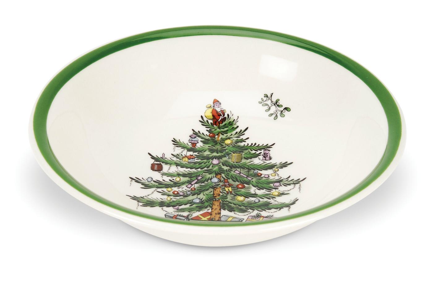 Spode Christmas Tree Set of 4 Ascot Cereal Bowls image number 0