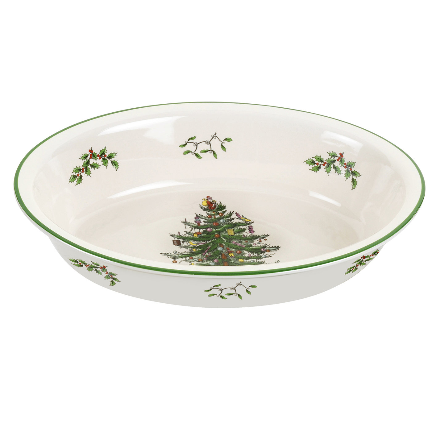 Spode Christmas Tree Oval Rim Dish image number 0