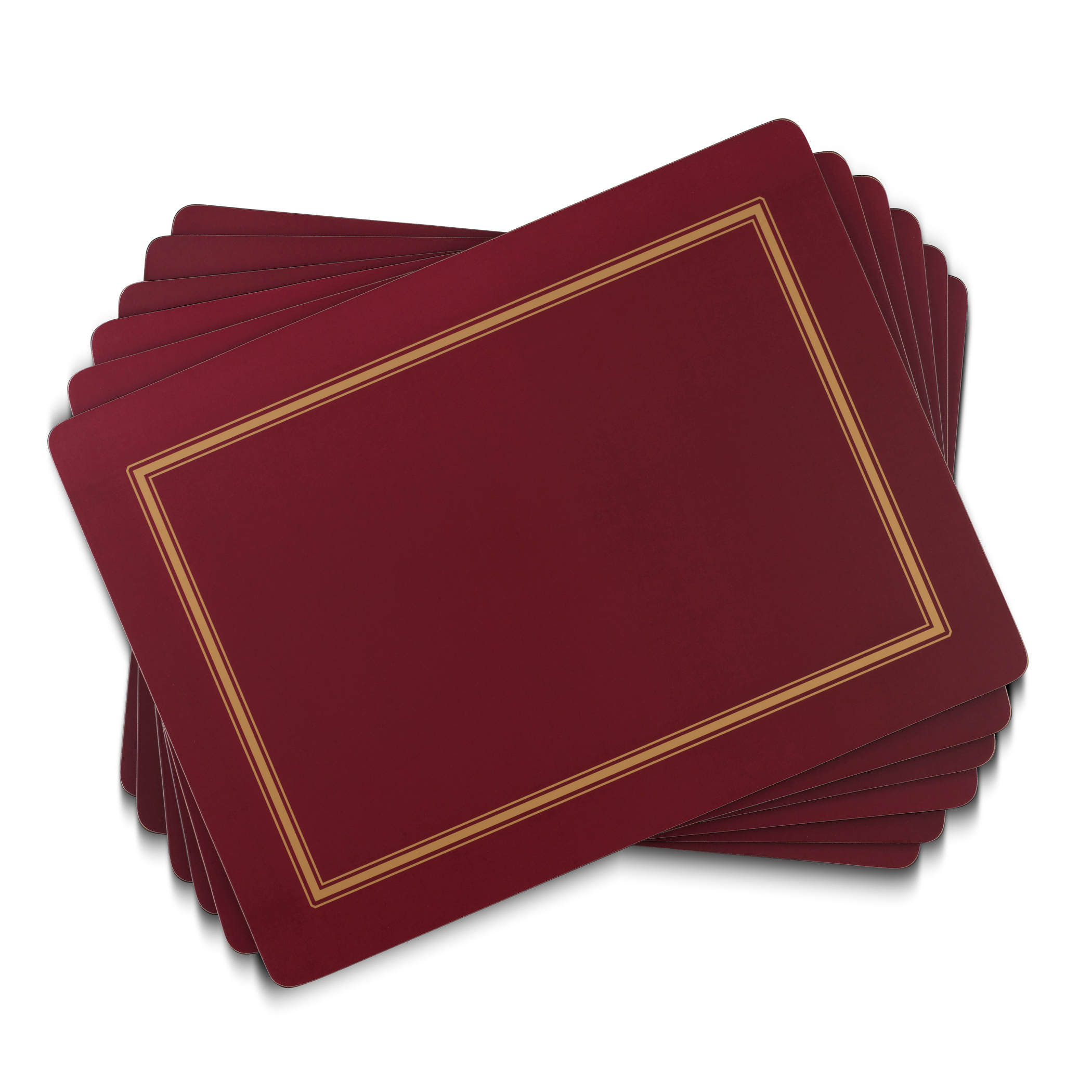 Pimpernel Classic Burgundy Placemats Set of 4 image number 0