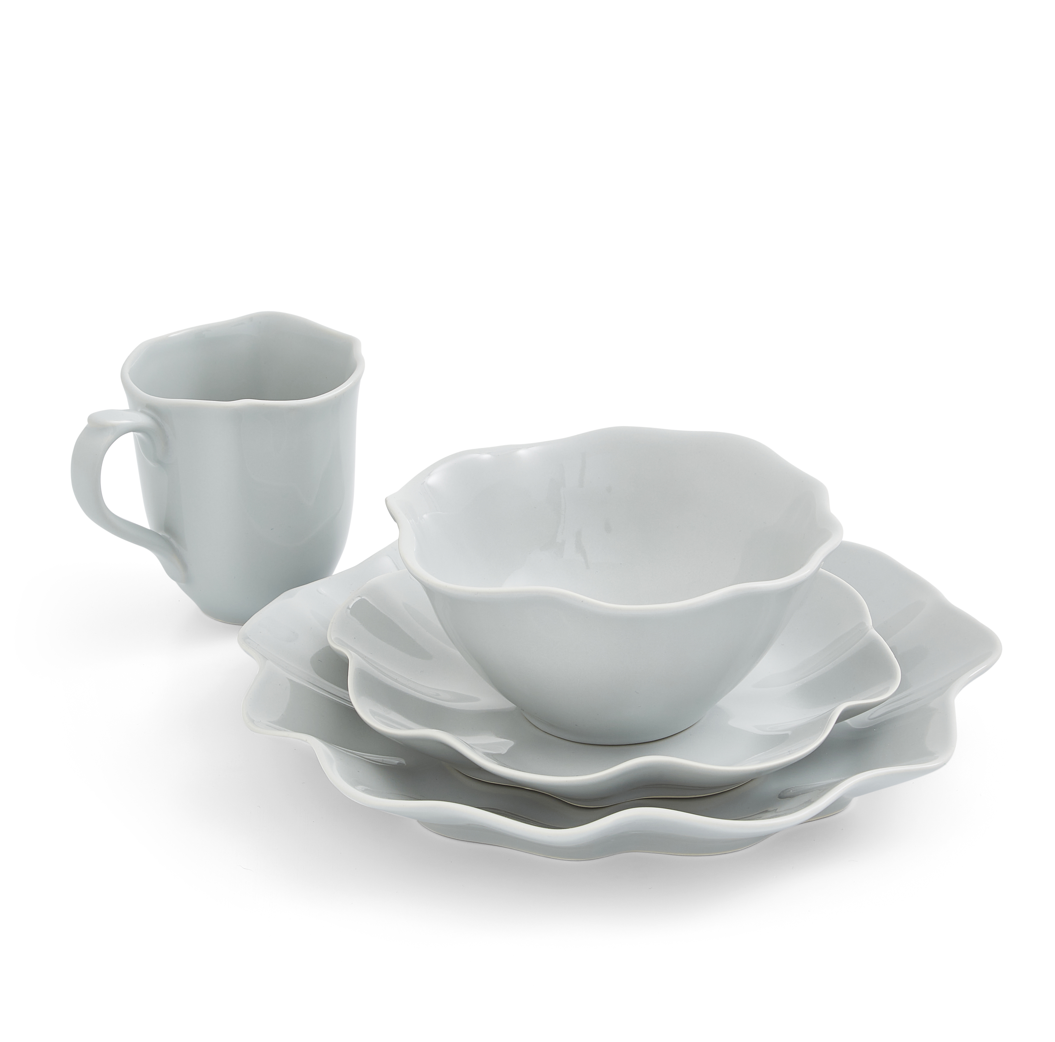 Sophie Conran Floret 4 Piece Place Setting- Dove Grey image number 0