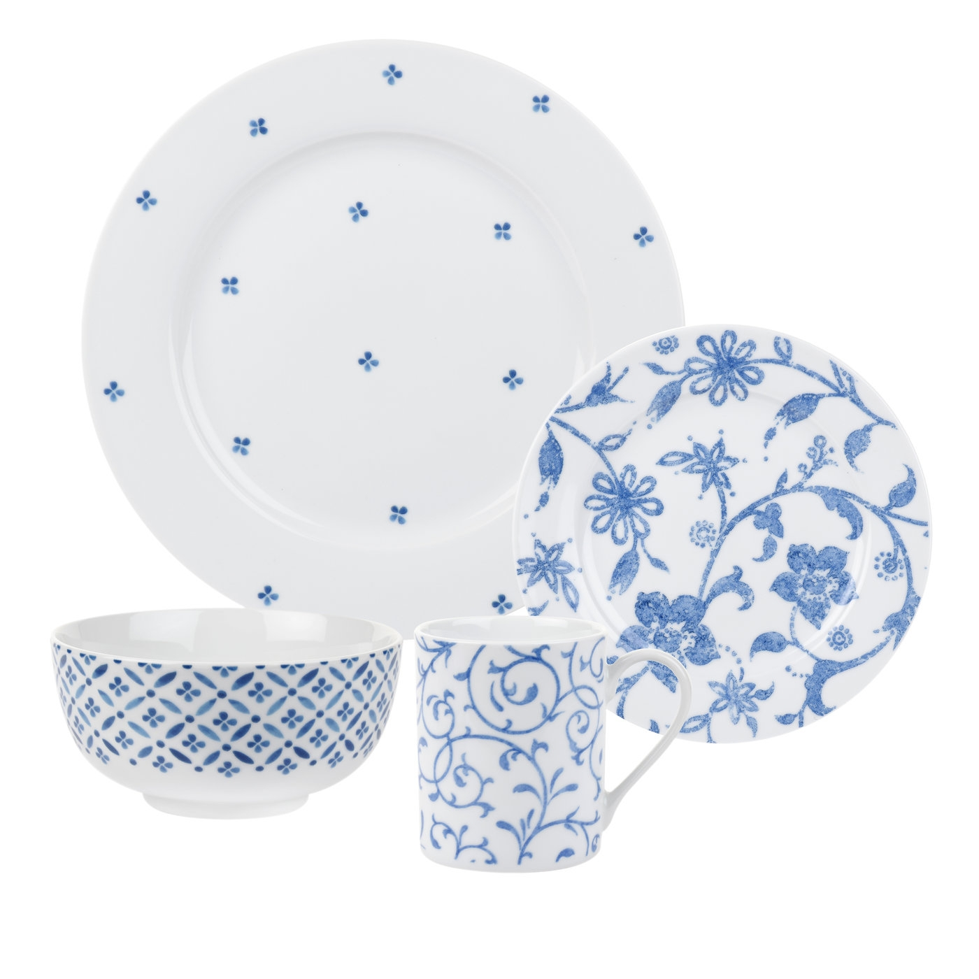 Spode Home Blue Indigo 16 Piece SET  image number 0