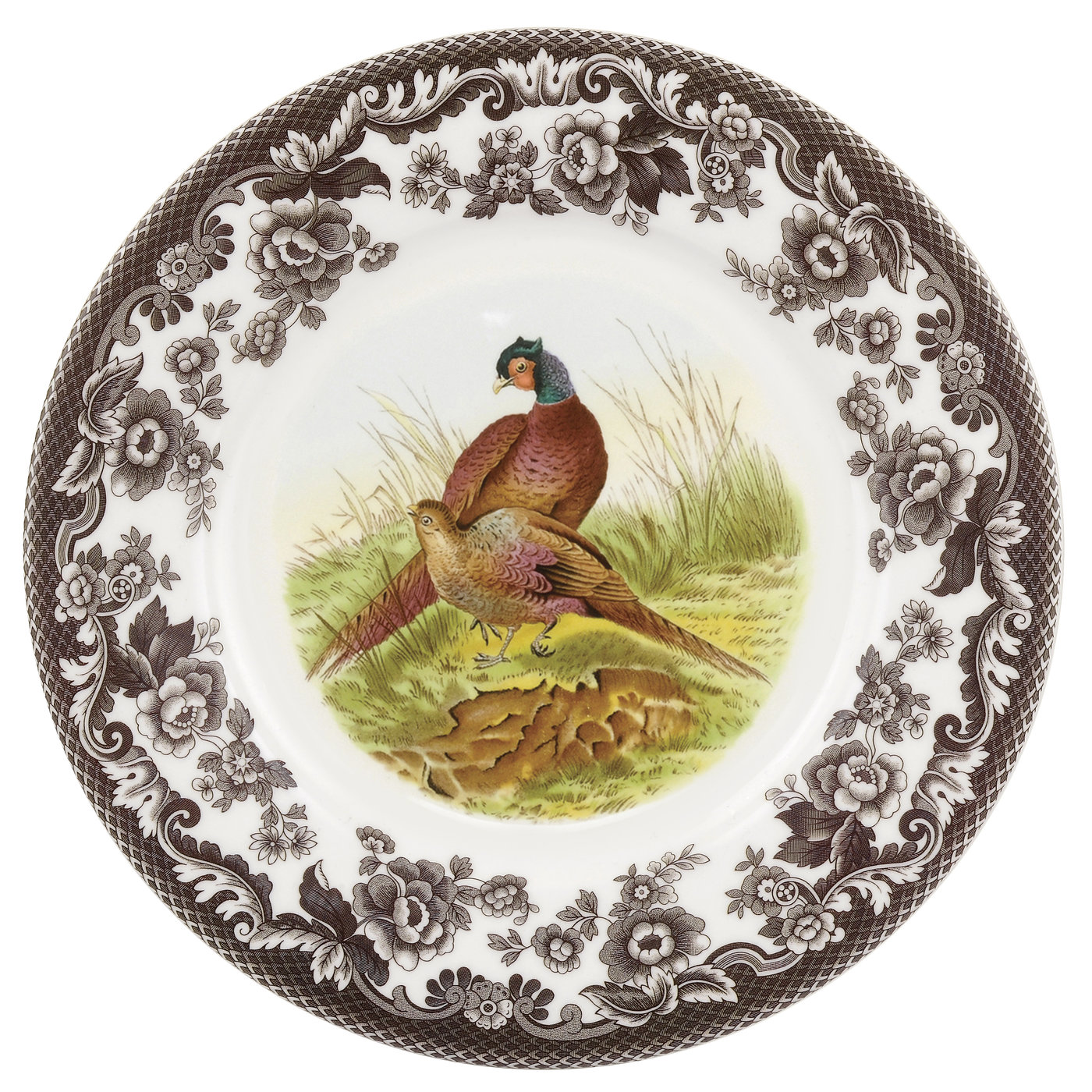 Spode Woodland  Luncheon Plate 9 Inch (Pheasant) image number 0