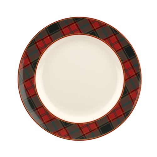 Spode Christmas Tree Tartan 10.5 Inch Dinner Plate image number 0