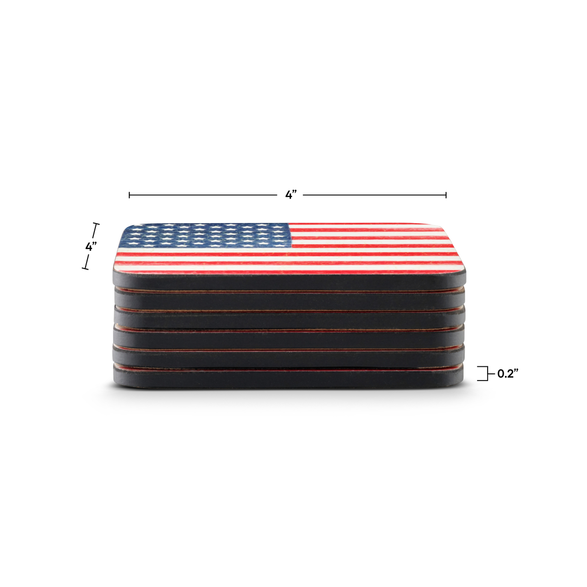 Pimpernel American Flag Coasters Set of 6 image number 2
