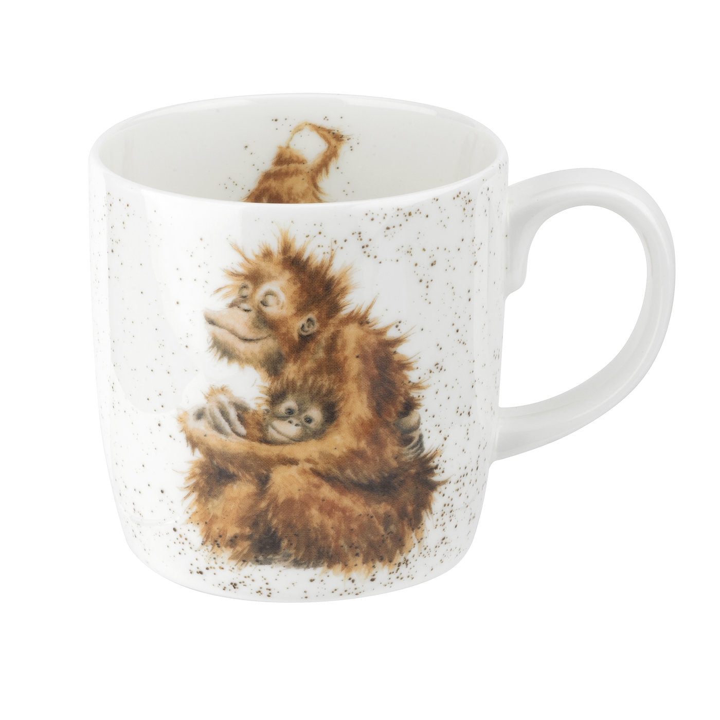 Royal Worcester Wrendale Designs Orangutangle 14oz Fine Bone China Mug image number 0