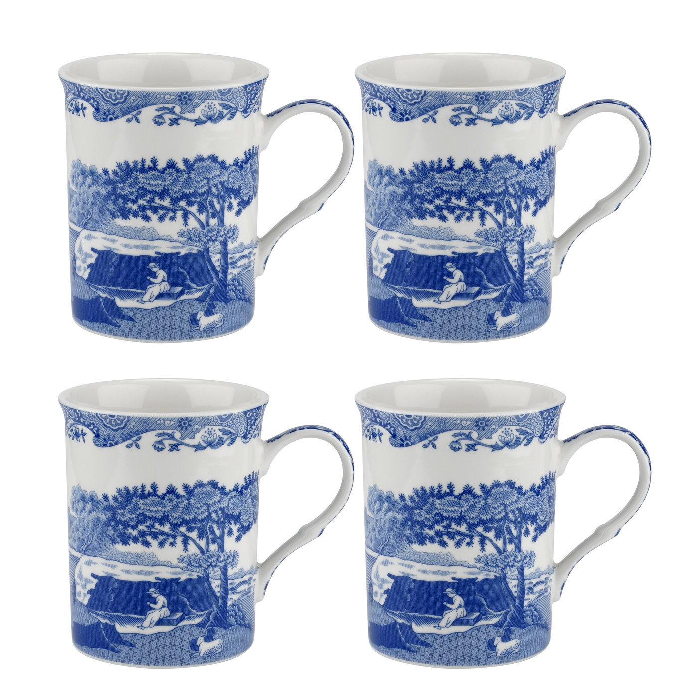 Spode Blue Italian 12 oz Mugs Set of 4 image number 0