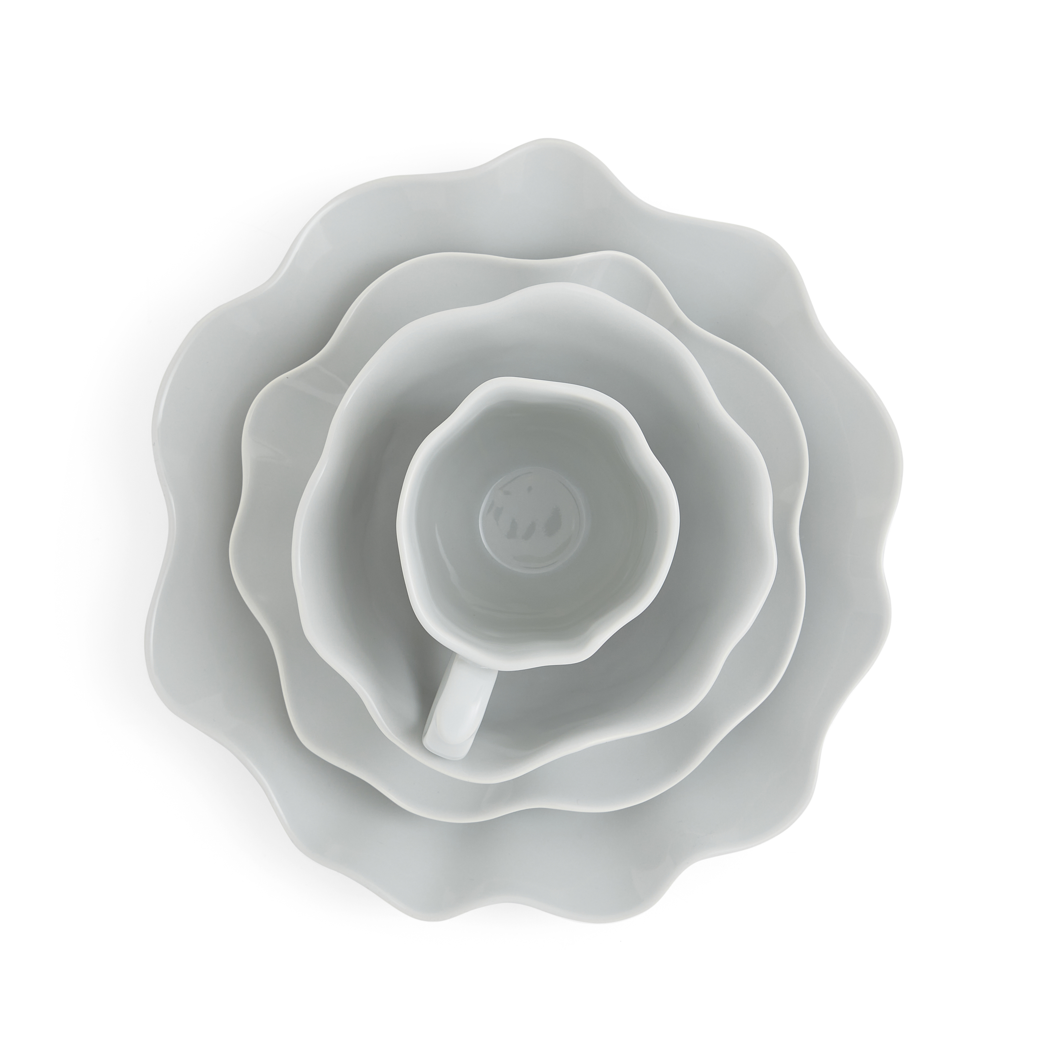 Sophie Conran Floret 4 Piece Place Setting- Dove Grey image number 1