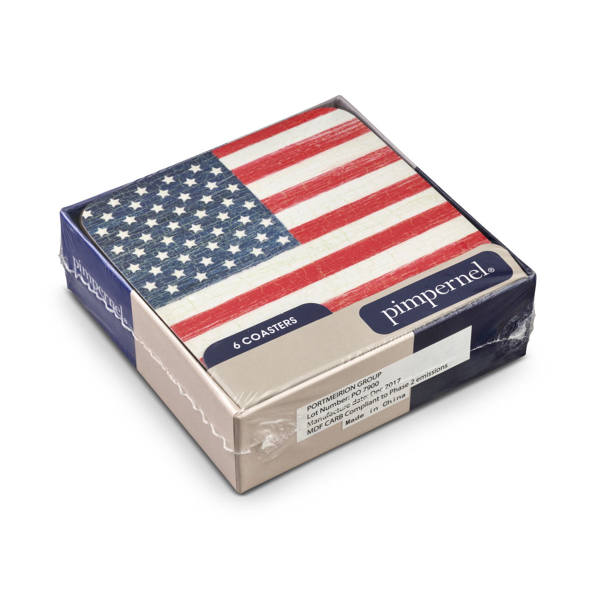 Pimpernel American Flag Coasters Set of 6 image number 3
