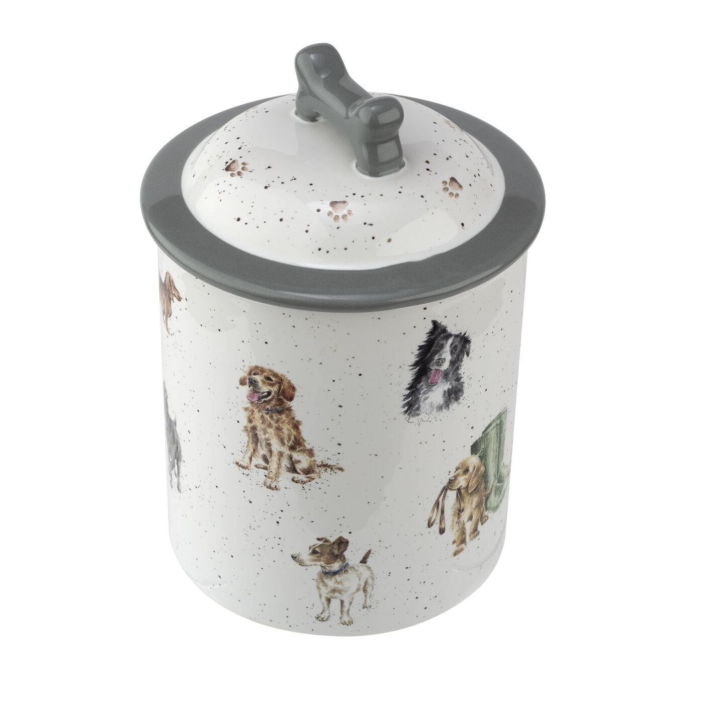 Royal Worcester Wrendale Designs 7.2 Inch Treat Jar (Assorted Dogs) image number 0