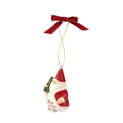 Spode Christmas Tree Gnome Merry Christmas Ornament image number 0