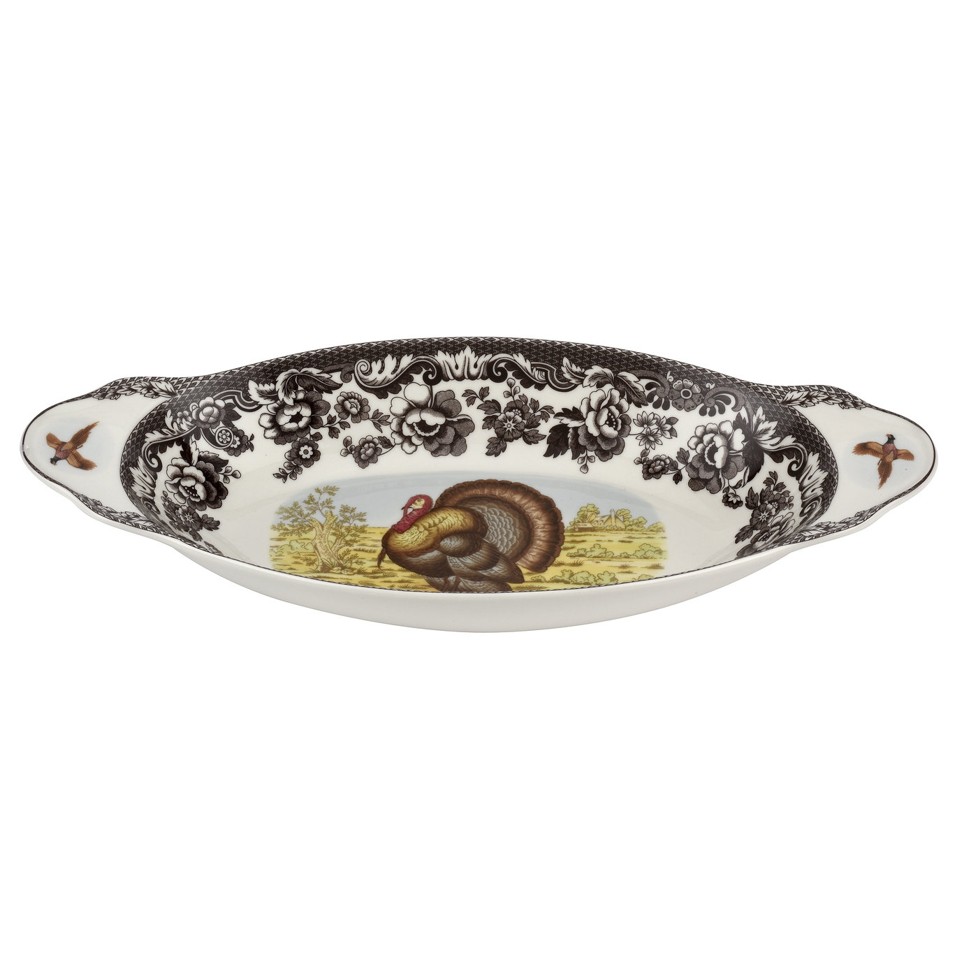 Spode Woodland Bread Tray 15.25 Inch (Turkey)  image number 0