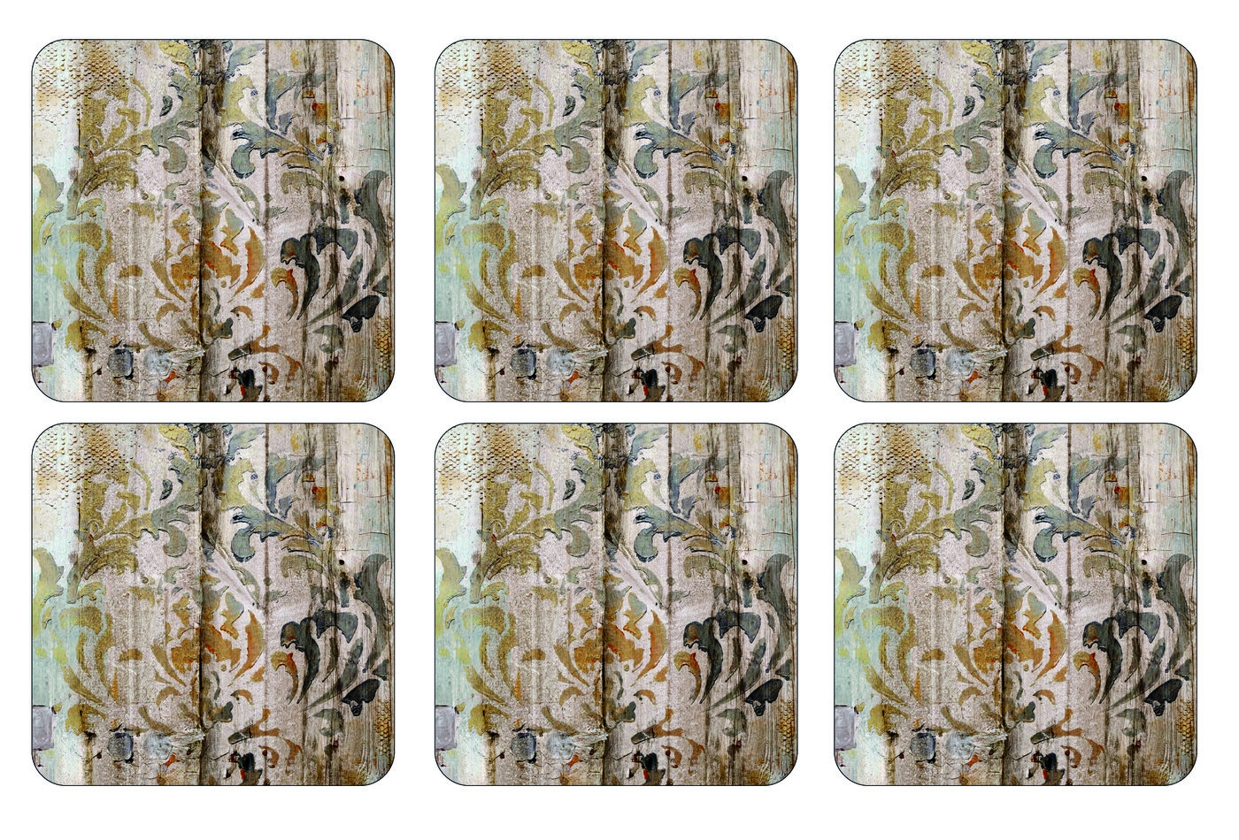 Pimpernel Frozen in Time Coasters Set of 6  image number 0