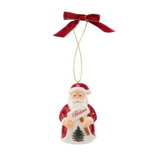 Spode Christmas Tree Believe In Santa Ornament image number 0