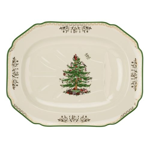 Spode Christmas Tree Gold Collection 21 Inch Rectangle Platter  image number 0