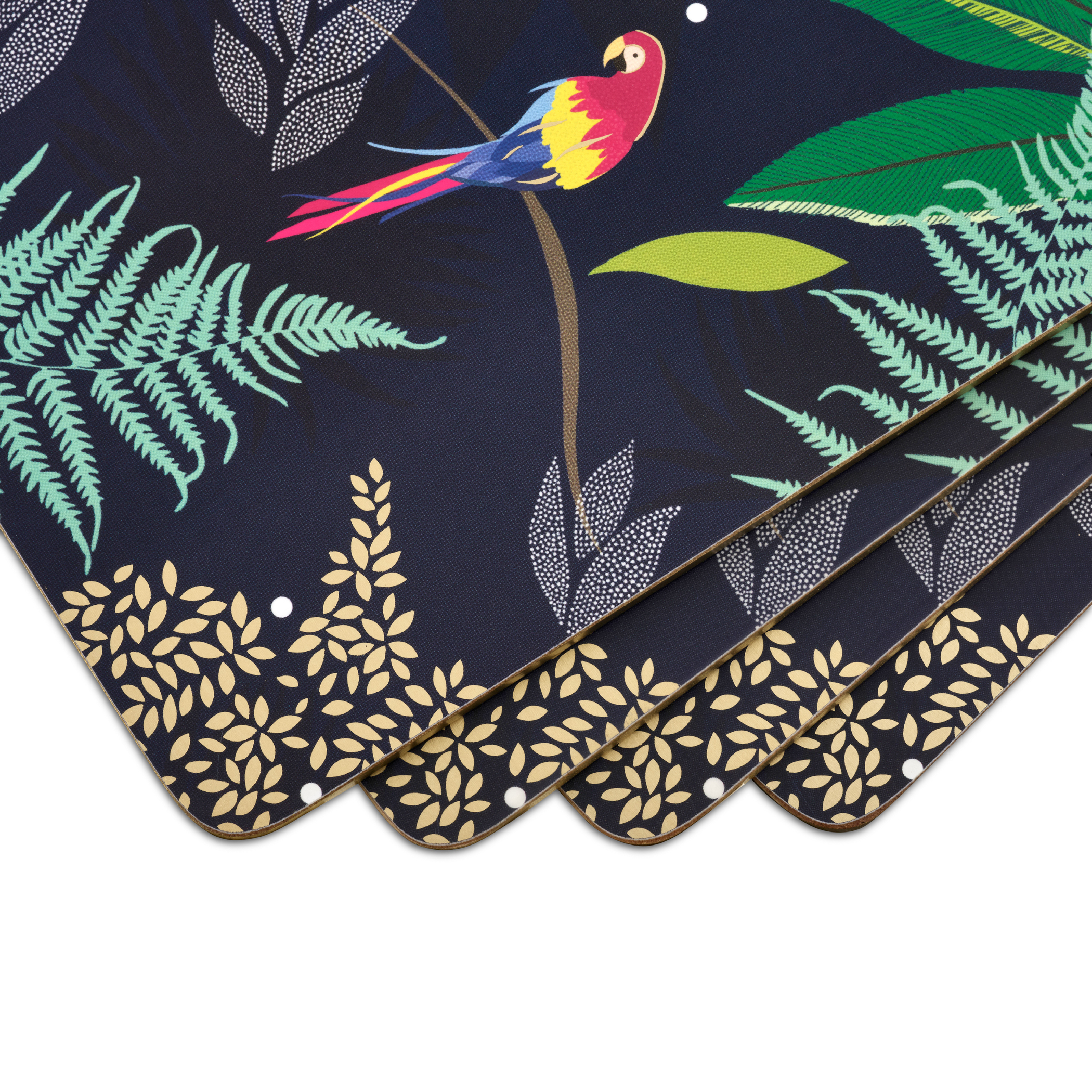 Sara Miller London for Pimpernel Parrot Collection Placemats Set of 4 image number 1