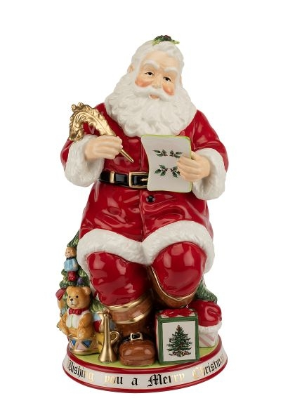 Spode 250th Anniversary Christmas Tree Figural Santa Cookie Jar image number 0
