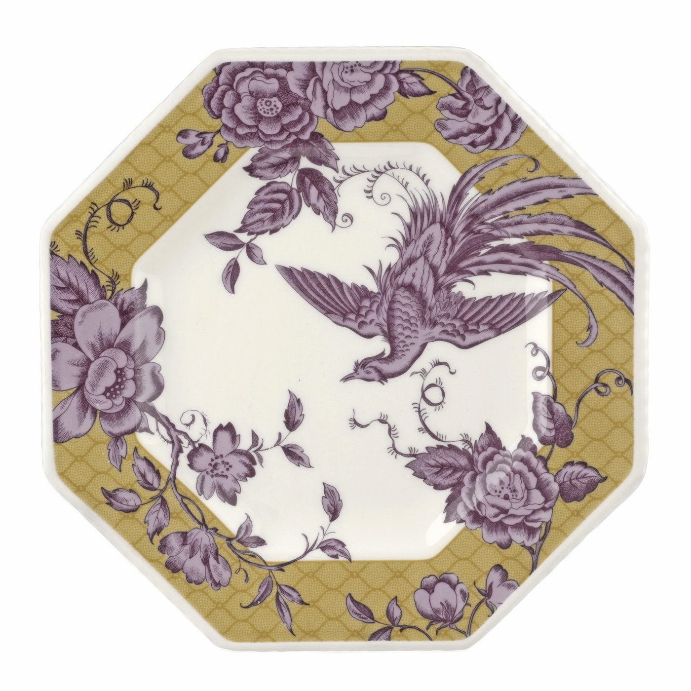 Spode Kingsley Ochre 9.5 Inch Octagonal Plate image number 0