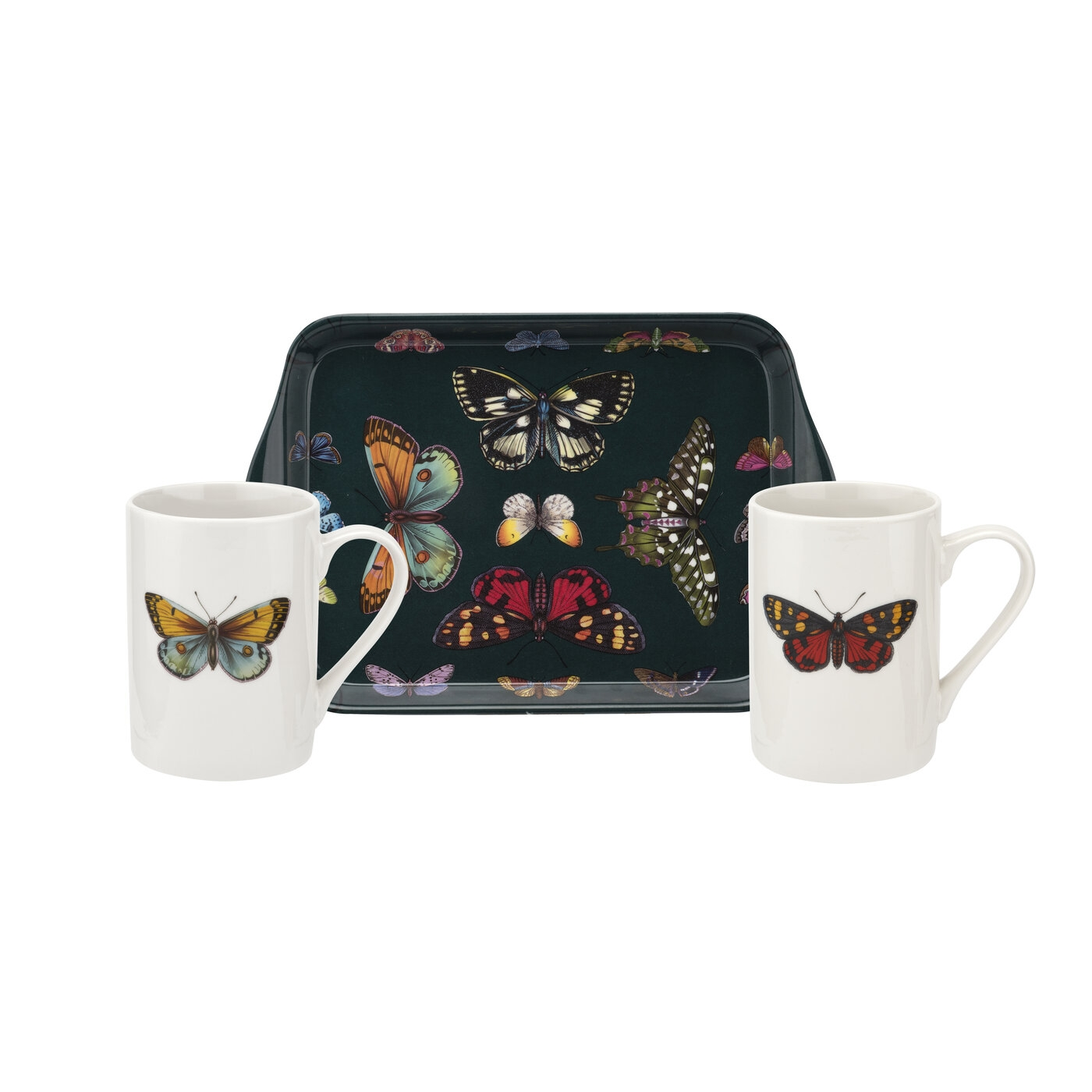 Pimpernel Botanic Garden Harmony Set of 2 Mugs and Tray image number 0