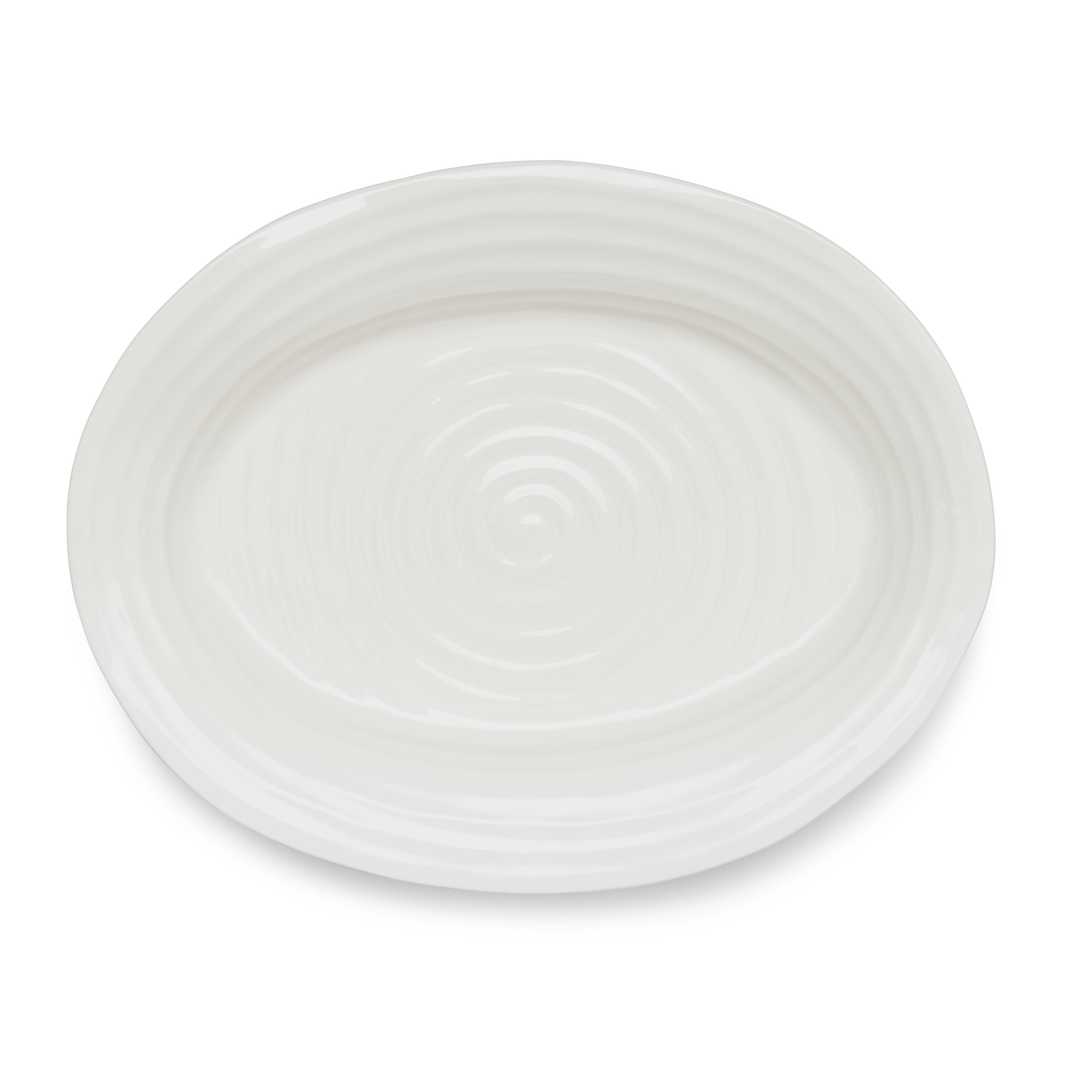 Portmeirion Sophie Conran White Medium Oval Platter image number 0
