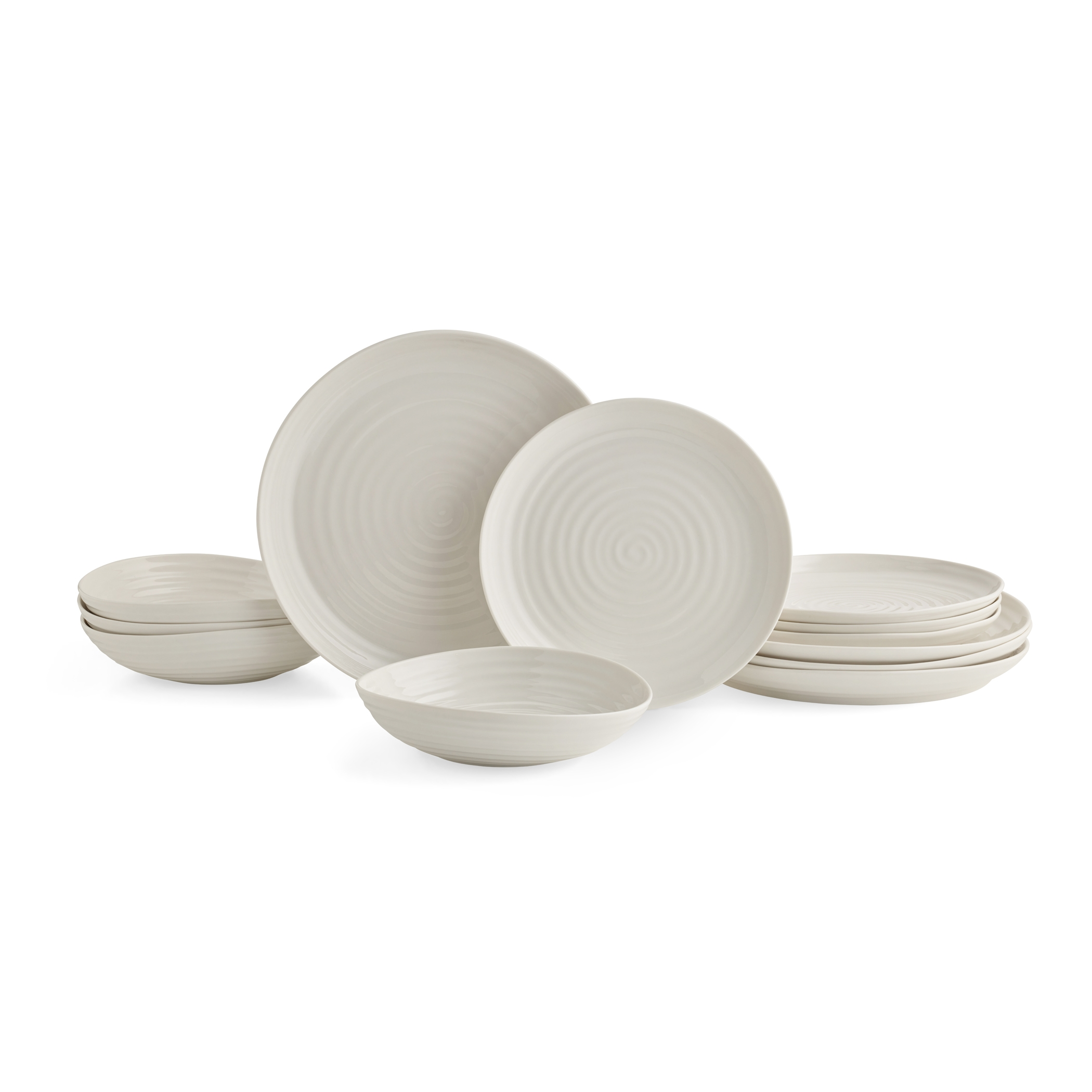 Portmeirion Sophie Conran White 12 Piece Set Coupe Shape image number 0