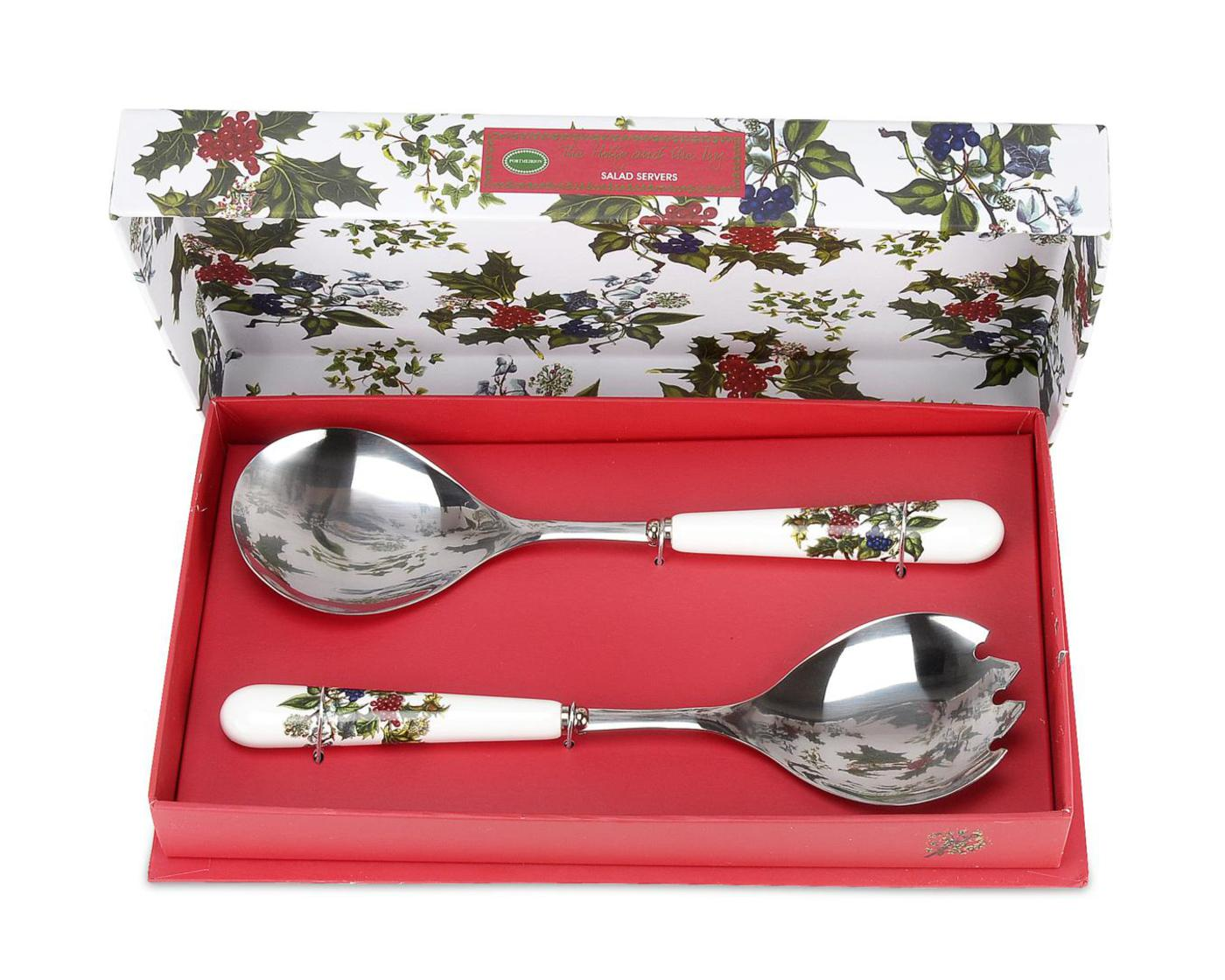 Portmeirion The Holly and The Ivy Set of 2 Salad Servers image number 0