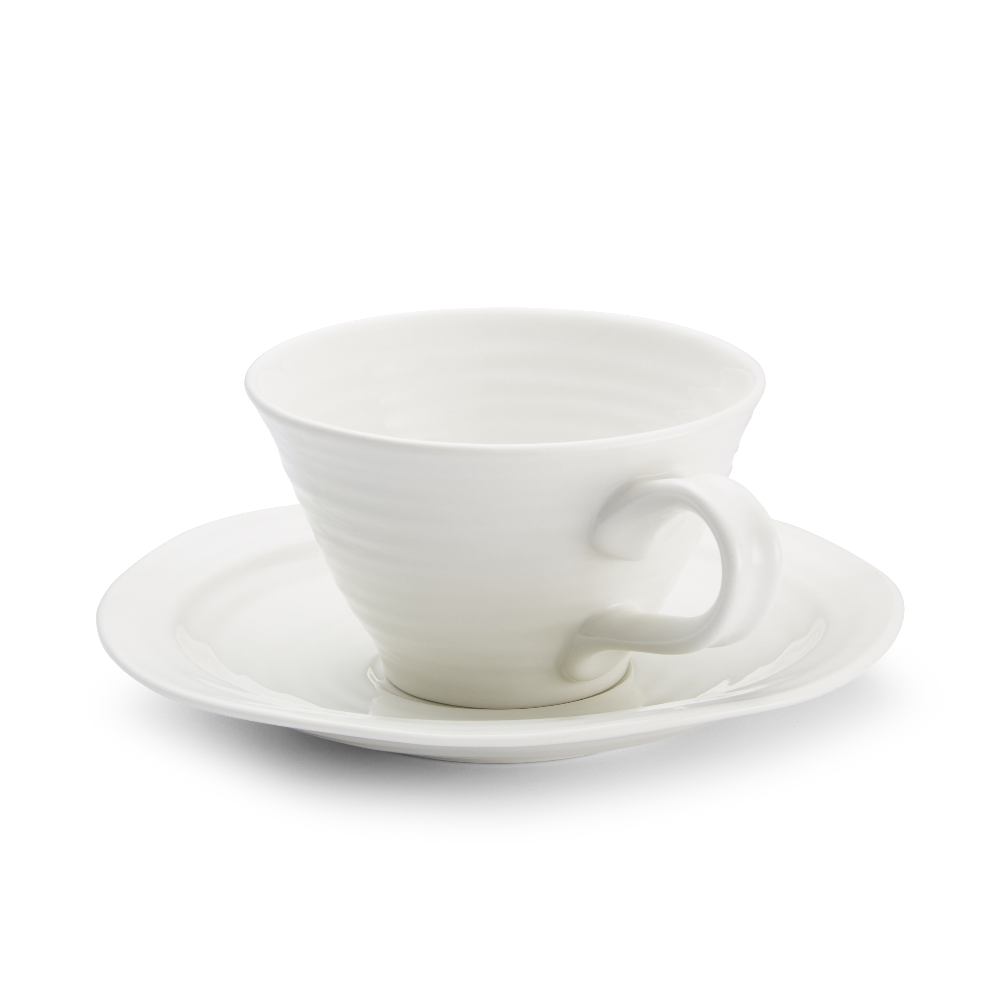Portmeirion Sophie Conran White Set of 4 Teacups and Saucers image number 1