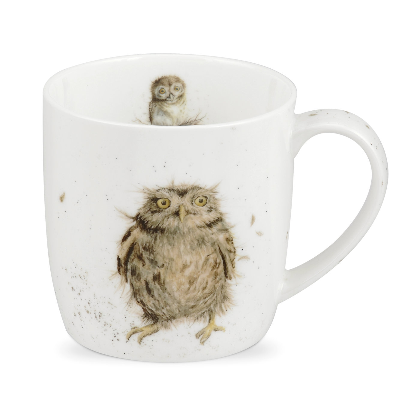 Royal Worcester Wrendale Designs Single What a Hoot (Owl) Fine Bone China Mug image number 0
