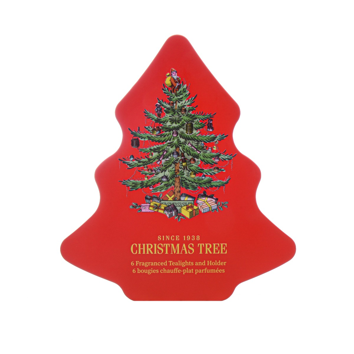 Christmas Tree Tealight Gift Set Tin image number 0